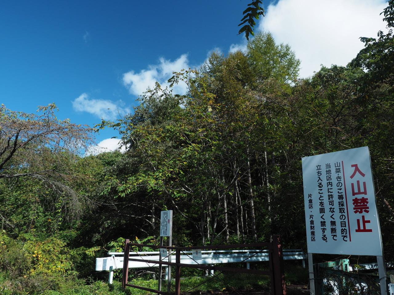 松茸の出る山の入り口にある