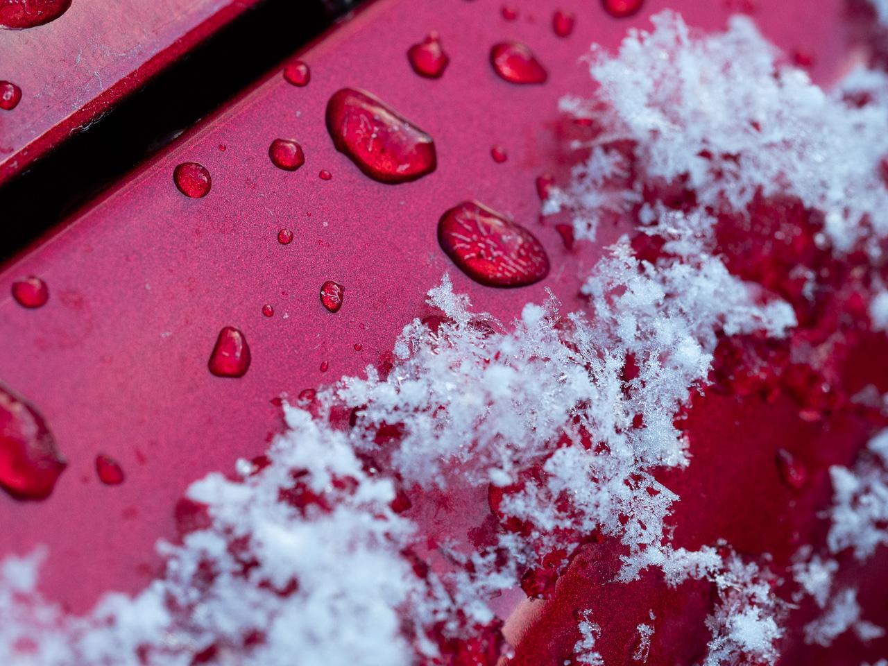 雪の結晶を撮りたかった