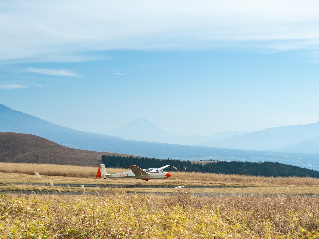 着陸と富士山